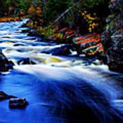 Horserace Rapids In Autumn Art Print