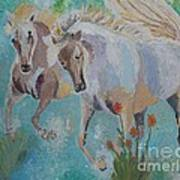 Horses From Camargue 2 Art Print