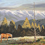 Horses Of The Tetons Art Print