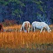 Horses On The March Art Print