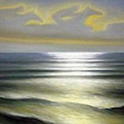 Horses Over Sea Art Print