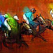 Horses Racing 01 Art Print