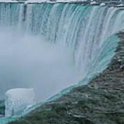 Horseshoe Falls Ice Formations Art Print