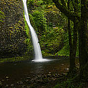 Horsetail Falls Columbia River Gorge Art Print