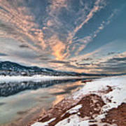 Horsetooth Sunset Hdr Art Print by Preston Broadfoot