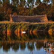 Horsey Mere On The Norfolk Broads On A Still Day In Autumn Art Print
