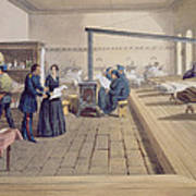 Hospital At Scutari, Detail Of Florence Art Print by William 'Crimea' Simpson
