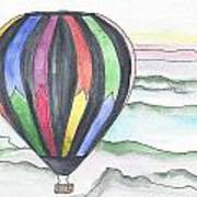 Hot Air Balloon 12 Art Print
