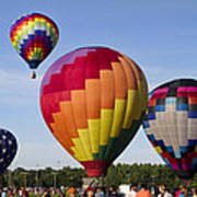 Hot Air Balloon Festival In Decatur Alabama  Art Print