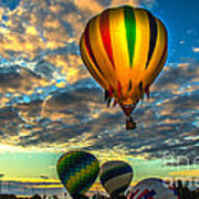 Hot Air Balloon Lift Off Art Print