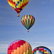 Hot Air Balloon Race Art Print