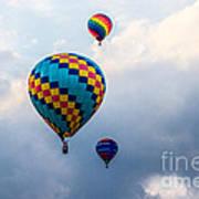 Hot Air Balloon Trio Art Print
