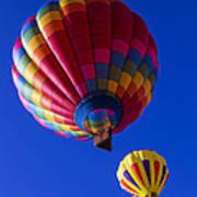 Hot Air Ballooning Together Art Print