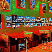 Hot Bar-glow Art Print