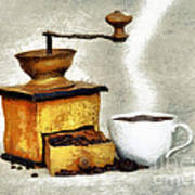 Hot Black Coffee Art Print