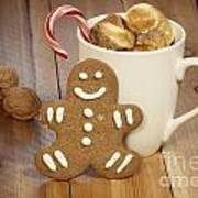 Hot Cocoa And Gingerbread Cookie Art Print by Juli Scalzi
