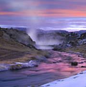 Hot Creek At Sunset Sierra Nevada Art Print
