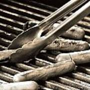 Hot Dogs On The Grill Art Print