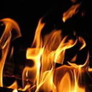 Hot Fire Art Print