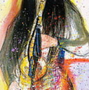 Hot Jazz Lady Art Print