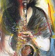 Hot Jazz Man Art Print