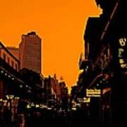 Hot Nights On Bourbon Street Art Print