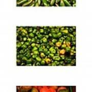 Hot Pepper Collage Art Print