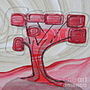 Hot Pink Geom Tree Art Print