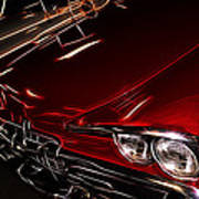 Hot Red Car  Art Print