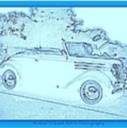 Hot Rod Digi Sketch Art Print