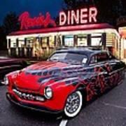 Hot Rod Diner Classic  Art Print