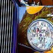 Hot Rod Show Car Light Art Print