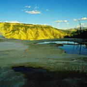 Hot Springs Yellowstone Art Print