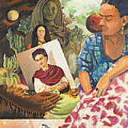Hot Ticket Frida Kahlo Meta Portrait Art Print