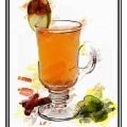 Hot Toddy Cocktail Marker Sketch Art Print