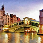 Hot Venetian Nights Art Print