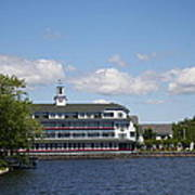 Hotel At Lake Winnipesaukee Art Print
