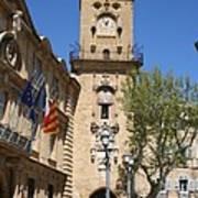 Hotel De Ville - Aix En Provence Art Print