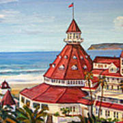 Hotel Del Coronado From Above Art Print