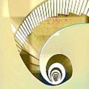 Hotel Staircase Lisbon Art Print