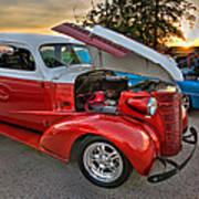 Hotrod Sunset Art Print