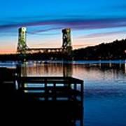 Houghton Bridge Sunset Art Print