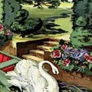 House & Garden Cover Illustration Of A Swan Art Print