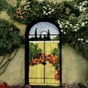 House And Garden Interior Decoration Number Art Print