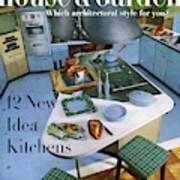 House And Garden Kitchen Ideas Issue Art Print