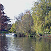 House Boat On River Avon Art Print