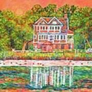House By The Tidal Creek At Pawleys Island Art Print