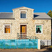 House In Akureyri Iceland Art Print