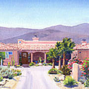 House In Borrego Springs Art Print by Mary Helmreich