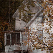 House In Fall Art Print